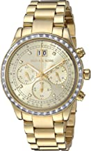 Michal Kors Brinkley Gold-Tone Dial SS Chronograph Quartz Ladies Watch MK6187