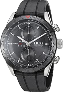Men's 'Artix' Swiss Stainless Steel and Rubber Automatic Watch, Color:Black (Model: 67476614434RS)
