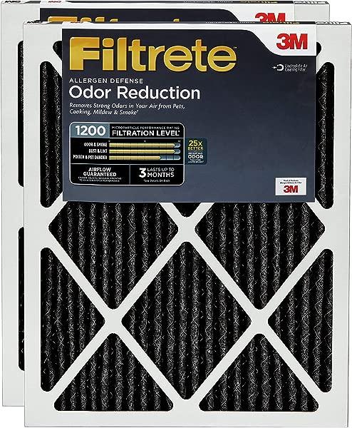 Filtrete 20x25x1 AC Furnace Air Filter MPR 1200 Allergen Defense Odor Reduction 2 Pack