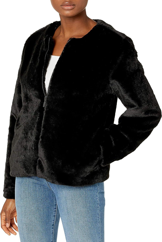 Skinnygirl Women's Commentary Lush Faux Fur Jacket