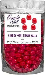CandyOut Red Cherry Chewy Candy Balls 3 Pounds