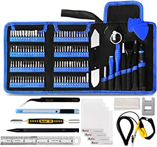 Kaisi 136 in 1 Electronics Repair Tool Kit Professional Precision Screwdriver Set Magnetic Drive Kit with Portable Bag