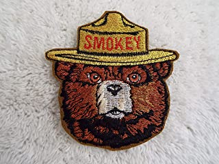 SMOKEY the BEAR Embroidered Iron-on Patch