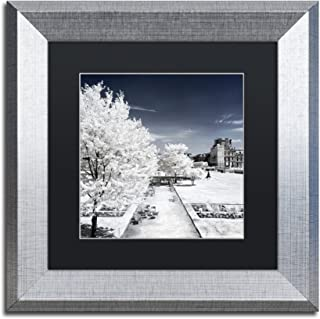 "Trademark Fine Art ""Another Look at Paris XVIII"" Canvas Art by Philippe Hugonnard, Black Matte, Silver Frame"
