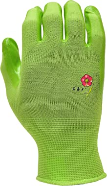 6 Pairs Women Gardening Gloves with Micro-Foam Coating - Garden Gloves Texture Grip - Working Gloves For Weeding, Digging, Ra