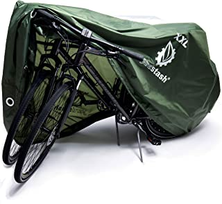 YardStash XL and XXL Outdoor Waterproof Bike Cover | Bicycle Storage Tarp for 2 to 3 Bikes | Shelter from All Weather Conditions for Mountain and Road Bikes