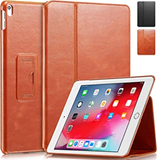 "KAVAJ Case Leather Cover Berlin Works with Apple iPad Air 3 2019 & iPad Pro 10.5"" Cognac-Brown Genuine Cowhide Leather wit..."