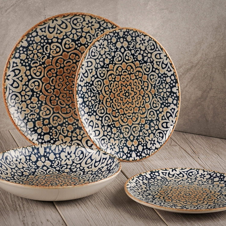 Turgla Home Española Collection Dinnerware 4-Piece online shop Porcelain Set Mesa Mall