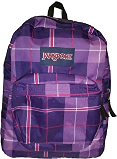 JanSport Classic SuperBreak Backpack (Electric Purple Silk Royal Plaid)