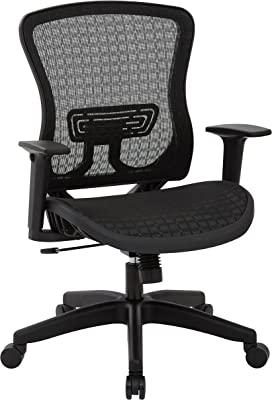 Space Seating Breathable Mesh Seat and Back Managers Chair, CHX Dark