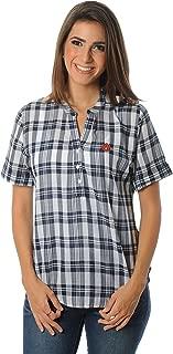 NCAA Women's Short Sleeve Plaid Top