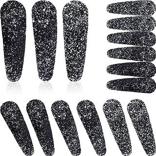 15 Pieces Snap Hair Clips Hair Pins Barrettes Sequin Water Drop Shape Hair Pins for Women Girls Favor