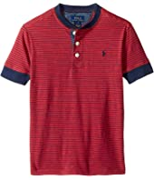 Polo Ralph Lauren Kids - Yarn-Dyed Slub Jersey Short Sleeve Henley Top (Little Kids/Big Kids)