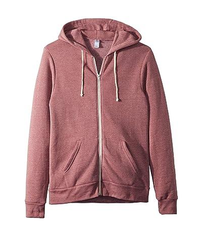 Alternative Rocky Eco-Fleece Zip Hoodie (Eco True Autumn Red) Men