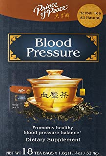 PRINCE OF PEACE Blood Pressure Herbal Tea 18 Bag, 1.14 oz