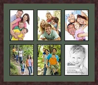 4 6 Plastique Photo Rétro famille 2 Photo Multi Frame Crème 45 x 2.5 x 33 cm
