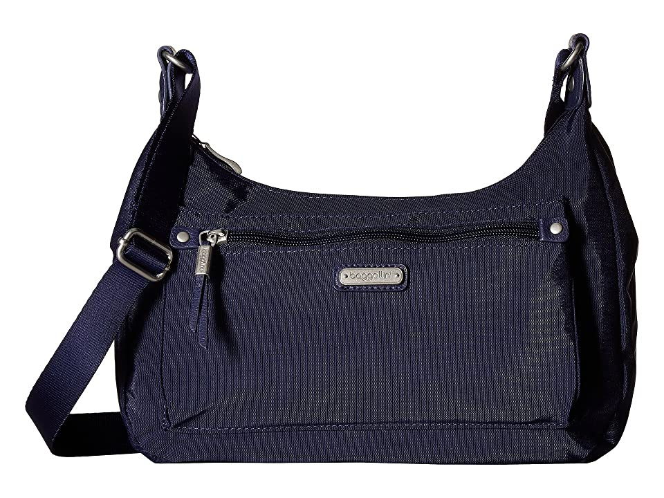 Baggallini New Classic Out and About Bagg with RFID Phone Wristlet (Navy) Bags