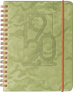 "Brunnen 1072966160""Camouflage"", schoolagendagen/weekkalender 2019/2020, 2 pagina's = 1 week, bladformaat 12 x 16 cm, A6, P..."