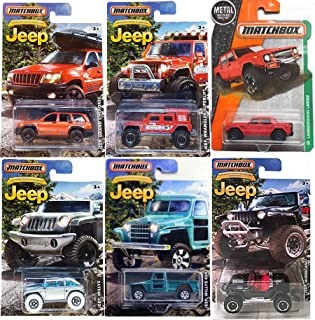 Matchbox Exclusive JEEP Series Anniversary Edition Hurricane Black & Lamborghini LM002 Off Road Set / Wrangler Superlift / Grand Cherokee / Willys Concept / 4x4 Truck in PROTECTIVE CASES