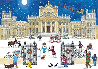 Alison Gardiner Famous Illustrator Unique Traditional Advent Calendar - Designed in England - Beautiful Festive Scene at Blenheim Palace