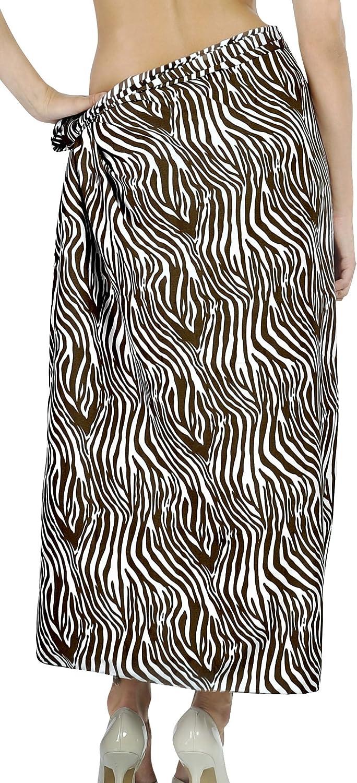LA LEELA Women's Swimwear Pareo Beach Cover Up Sarong Wrap Skirts Full Long G