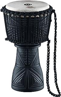 Meinl Percussion Djembefola with Mahogany Wood-NOT Made in CHINA-10 Medium Size Roped Tuned Goat Skin Head, Tiki Black Design, 2-Year Warranty (DJFS1-M