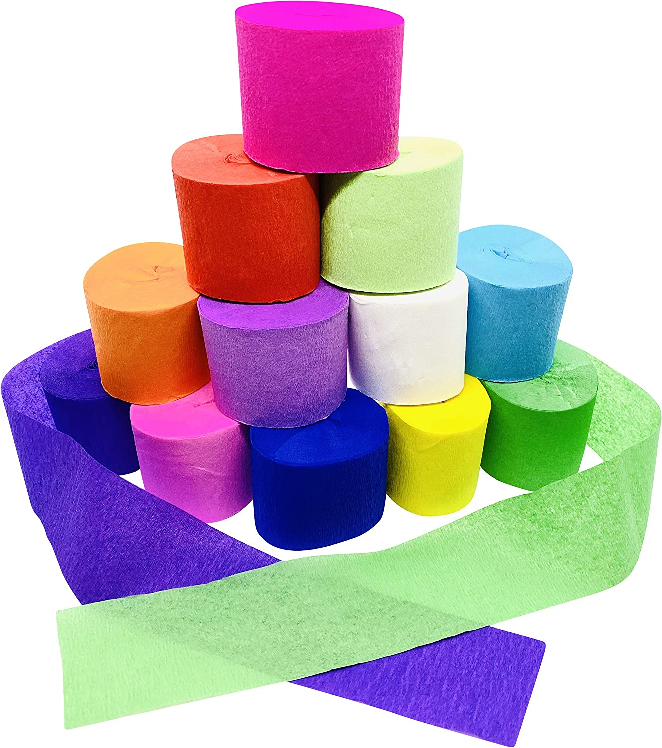 Party Manufacturer regenerated product Streamers 12 roll Paper Pape Genuine Crepe