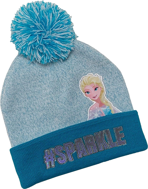 Details about  /DISNEY FROZEN II Girls Pompom Knit Beanie Hat New One Size