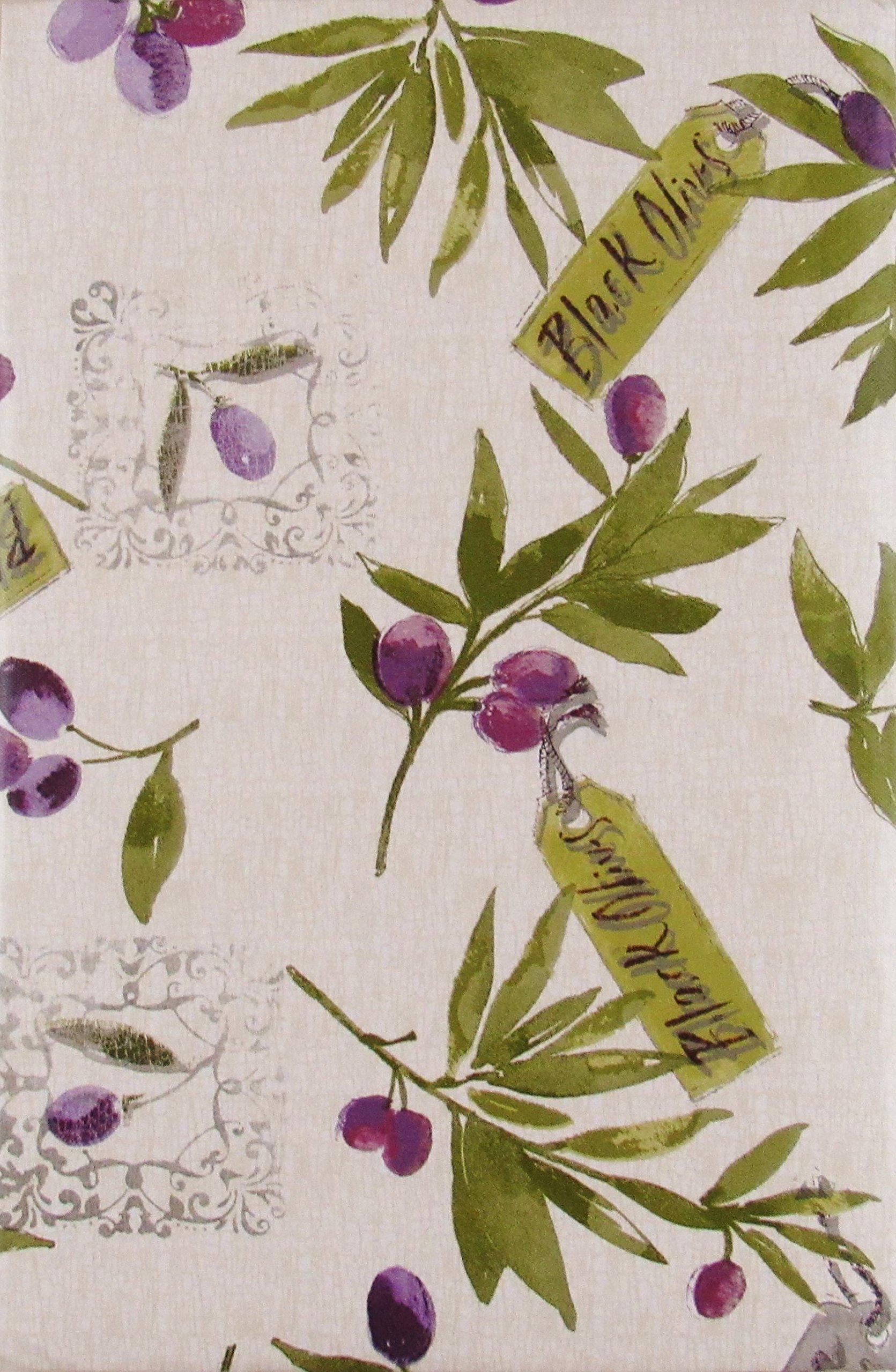 52 x 70 Oblong Fresh Herbs Collage Vinyl Flannel BackTablecloths
