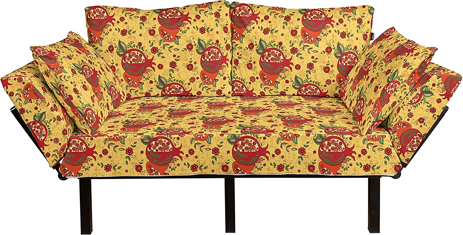 Ambesonne Limited price Oriental Futon Couch Middle Pattern All items in the store Happy Ye New East