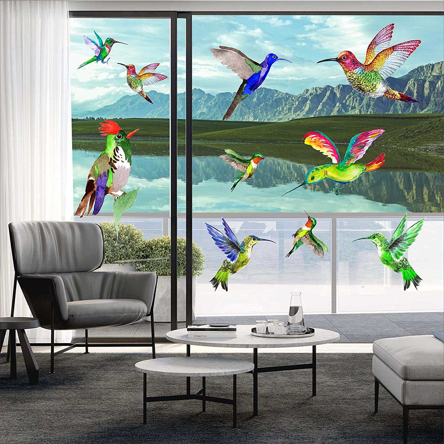 Hummingbird Max 70% OFF Window Clings sold out Anti Collision Stickers D Decor