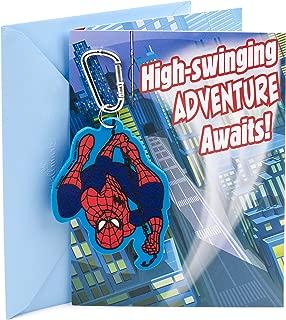 Hallmark Birthday Card for Boy (Spider-Man Backpack Clip)