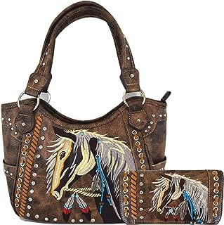 WESTERN ORIGIN womens Women's Western Style Handbags With Wallet Set