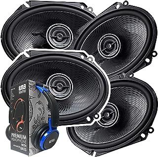 2 Pairs of Kenwood 6x8 360W 2-Way Coaxial Car Audio Speakers | (4 Speakers) + EMB Premium Headphone photo