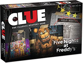 USAOPOLY Clue Five Nights at Freddy's Board Game | Based on Five Nights at Freddy's Video Game | Officially Licensed Five Nights at Freddy's Merchandise | Themed Classic Clue Game