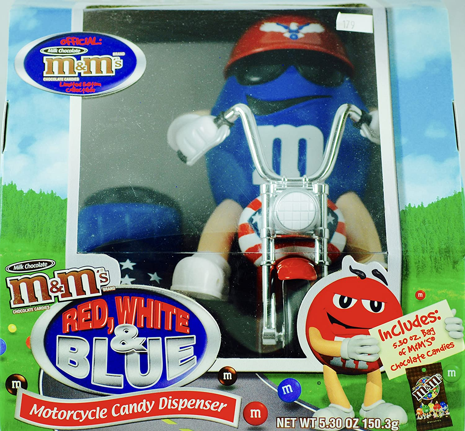 M&m's Candy Dispenser - Red, White & bluee