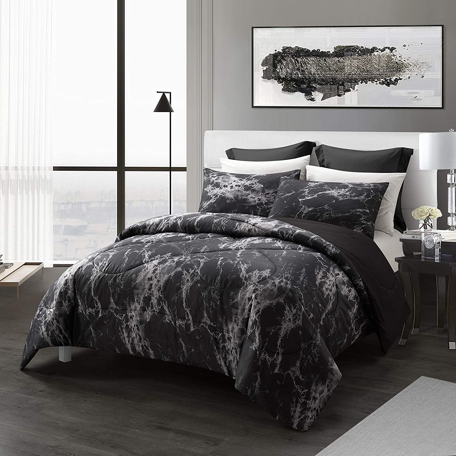 Spring Meow Marble Comforter Set Queen Dow Soft Sets Popular popular Miami Mall
