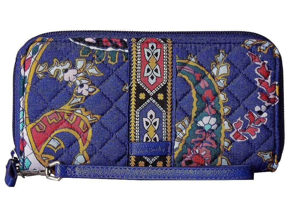 Vera Bradley Iconic RFID Accordion Wristlet (Romantic Paisley) Wristlet Handbags