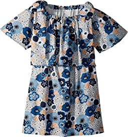 Mini Me Floral Print Knots Details (Big Kids)
