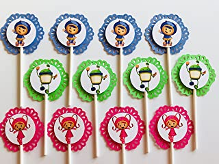 12 TEAM UMIZOOMI Cupcake Toppers - Party Picks - Nickelodeon - Milly - Geo - Bot