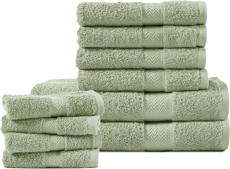 10 Piece Special Campaign Jade Bath Towels Sets Bathroom Premium GSM online shopping Quality 600