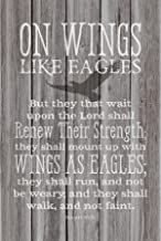 Dexsa On Wings Like Eagles…New Horizons Wood Plaque with Easel