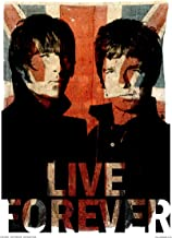 OnTheWall Oasis Liam and Noel Live Forever Art Print Poster by Wig (OTW50)
