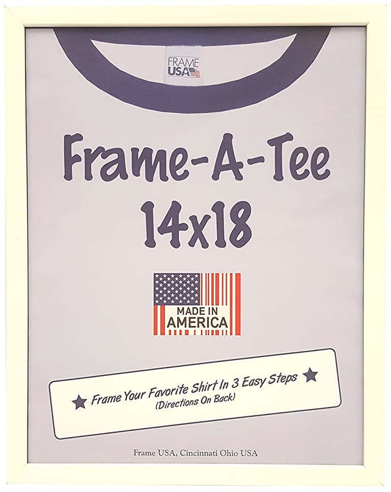 印象派オートマトン利用可能Tシャツフレーム 14x18 FASWhite