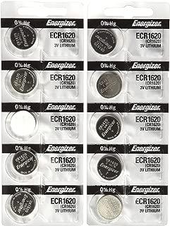 10 Energizer CR1620 Lithium Batteries