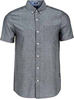 Volcom Men's Everett Oxford Modern Fit Woven Short Sleeve Shirt.