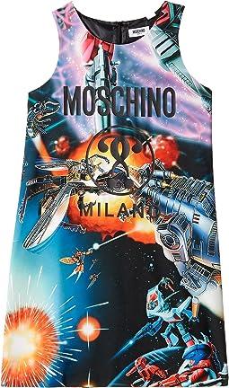 Moschino Kids - Sleeveless Transformers Dress w/ Logo on Front (Big Kids)