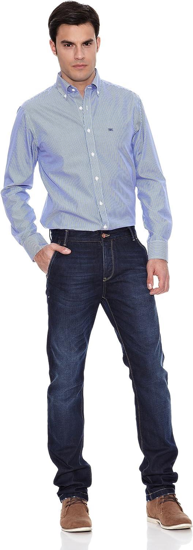 Pedro del Hierro Camisa Non Iron Raya Blanca F.Color Azul ...