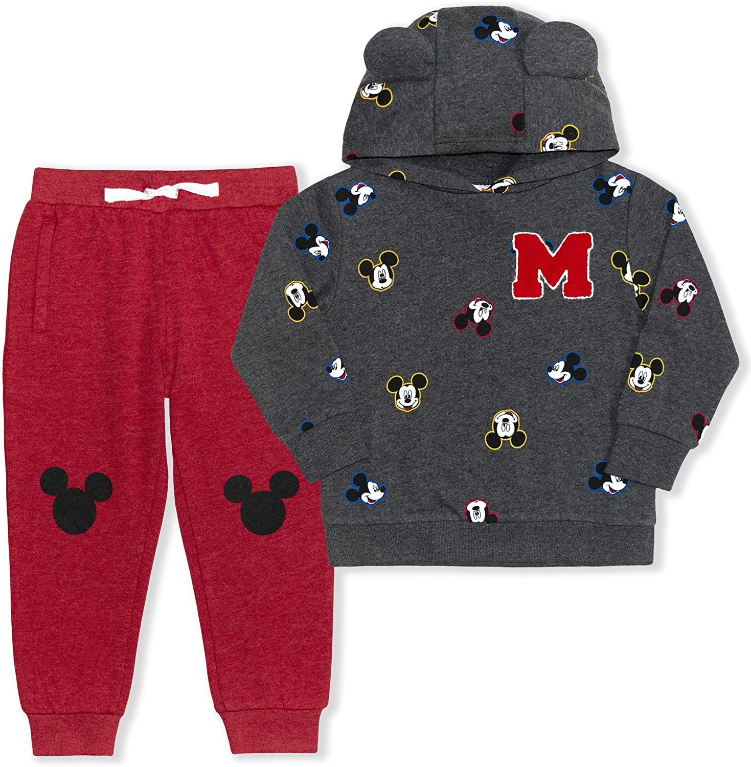 Disney Boy's 2-Piece Mickey Mouse M Pullover Hoodie and Drawstring...