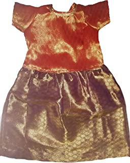 1 YR Baby Girl Unique Handmade Indian Ethnic Full Length Dress